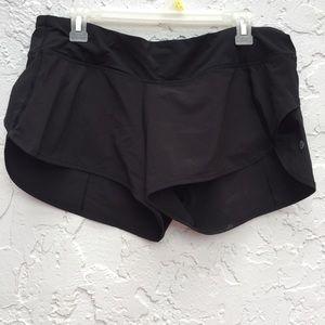 LULULEMON Size 10 Black Shorts